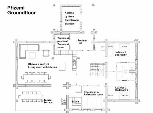 layout přízemí - groundfloor