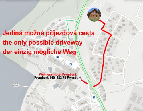 Mapka příjezdu - Map arrival